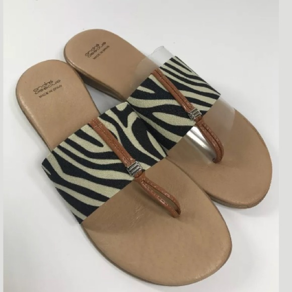 b94937ceba64 Andre Assous Shoes - Andre Assous nice-A Sandals zebra flip flops